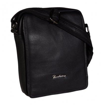 Kožená pánská taška Pierre Andreus černá
