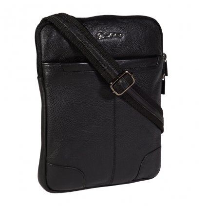 Kožená pánská taška Pierre Andreus 014-NDM černá