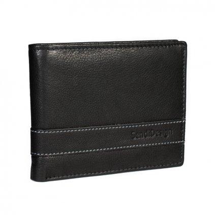 Pánská kožená peněženka SendiDesign 44 černá