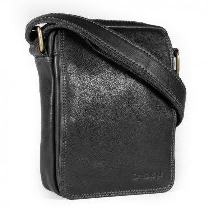 Kožená taška přes rameno SendiDesign CT52006 černá