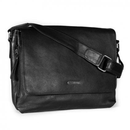 Kožená pánská taška SendiDesign SD-001 černá