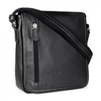 Kožená pánská taška crossbody Hexagona 461326 černá