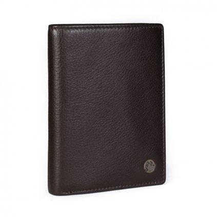 Pánská kožená peněženka Silvercat 007 hnědá