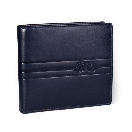 Kožená pánská peněženka Nivasaža N217-KNZ modrá