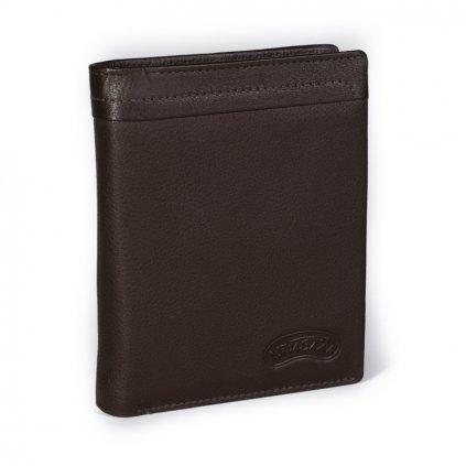 Kožená pánská peněženka Nivasaža N201-PIC hnědá