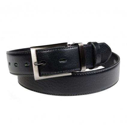 Pánský kožený opasek Penny Belts Alessandro černý