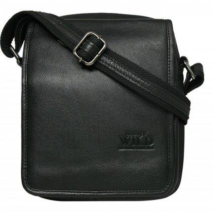 Kožená pánská taška Pierre Andreus 5031-NDM černá