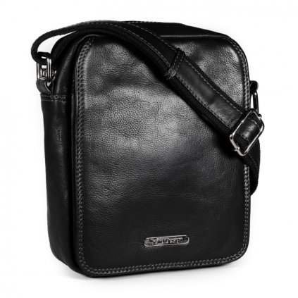 Kožená taška přes rameno SendiDesign SD-52005 černá
