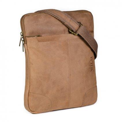 Elegantní crossbody taška Always Wild 014-TGH světle hnědá