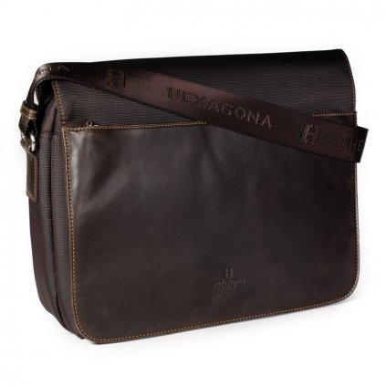Luxusní pánská taška přes rameno Hexagona 292682 hnědá