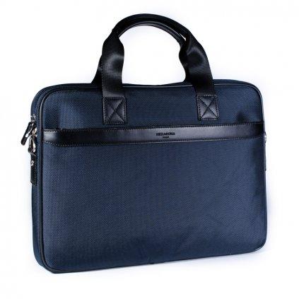 Elegantní pánská taška na notebook Hexagona D75777 modrá