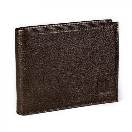 Prvotřídní kožená pánská peněženka Hexagona 331049 hnědá