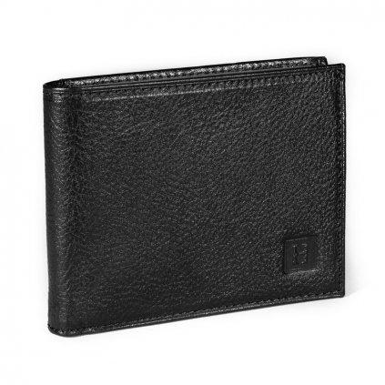 Prvotřídní kožená pánská peněženka Hexagona 331049 černá