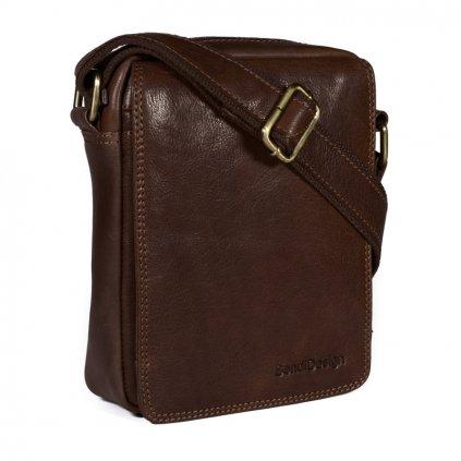 Kožená taška přes rameno SendiDesign Elegant marron
