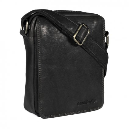 Kožená taška přes rameno SendiDesign Elegant black