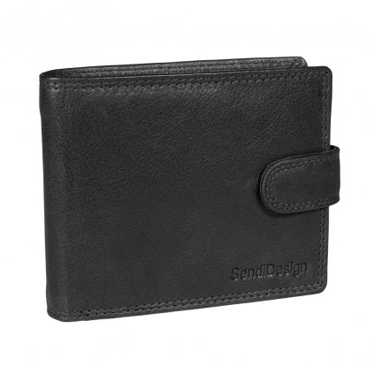 Pánská kožená peněženka SendiDesign Elegant black