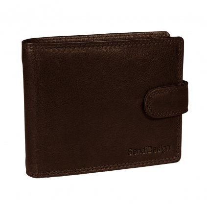 Pánská kožená peněženka SendiDesign Elegant marron
