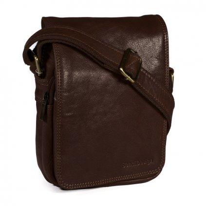 Kožená taška přes rameno SendiDesign M-708 hnědá