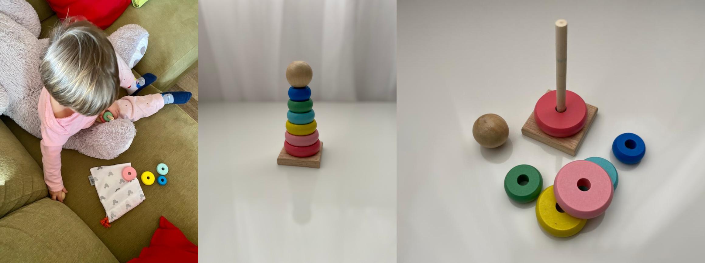 Věžička z barevných koleček