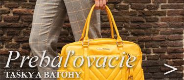 Prebaľovacie tašky a batohy