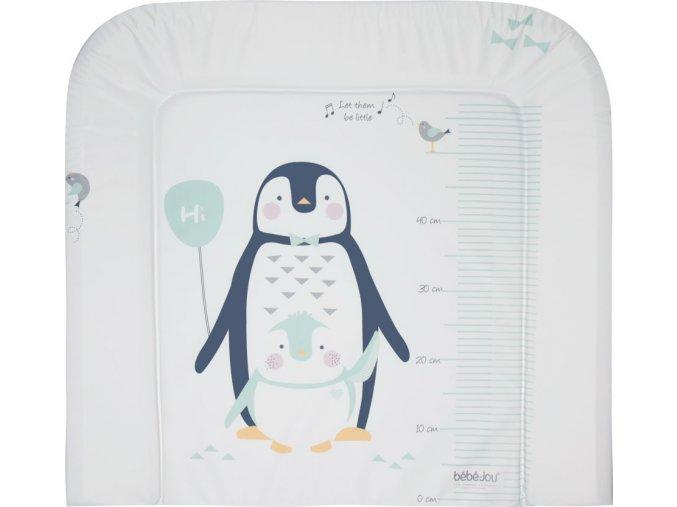 Velká třístranná přebalovací podložka s téměř cepoplošným potiskem tučňáka Lou Lou
