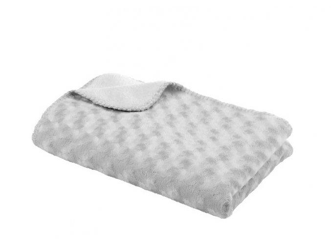 Detská deka double fleece obojstranná 75 × 100 Grey
