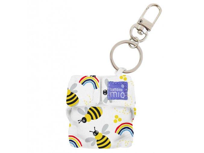 Přívěsek klíčenka ve tvaru látkových plen Honeybee Hive