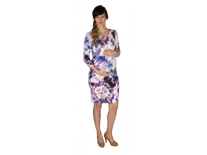 Tehotenské šaty Rialto Lunna ružová batika 0607