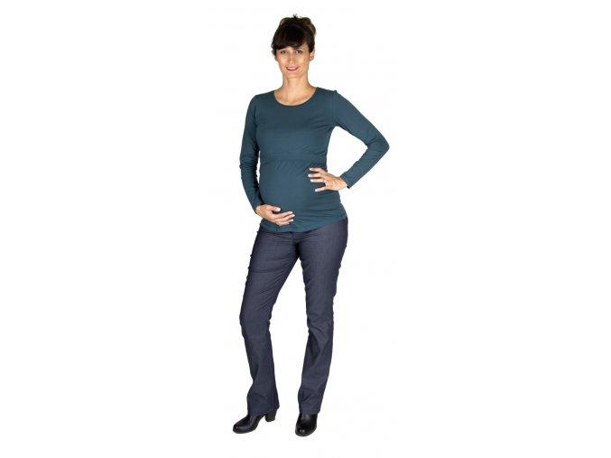 Tehotenské a dojčiace bavlnené tričko Rialto dora, Petrol