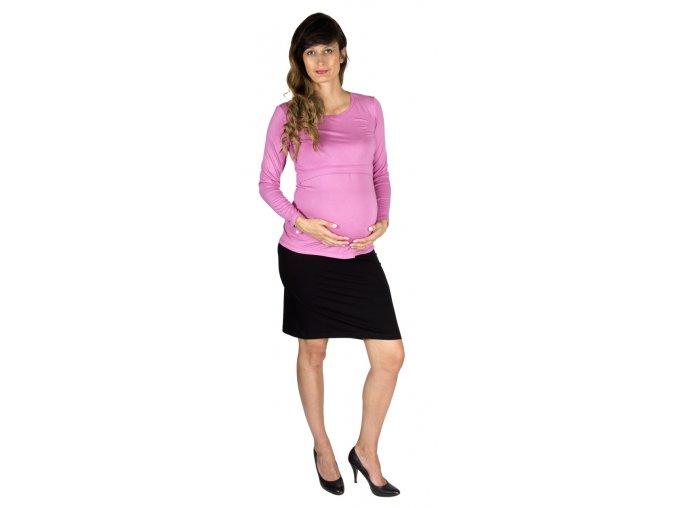 Tehotenské a dojčiace tričko Rialto Dora, ružové 0360