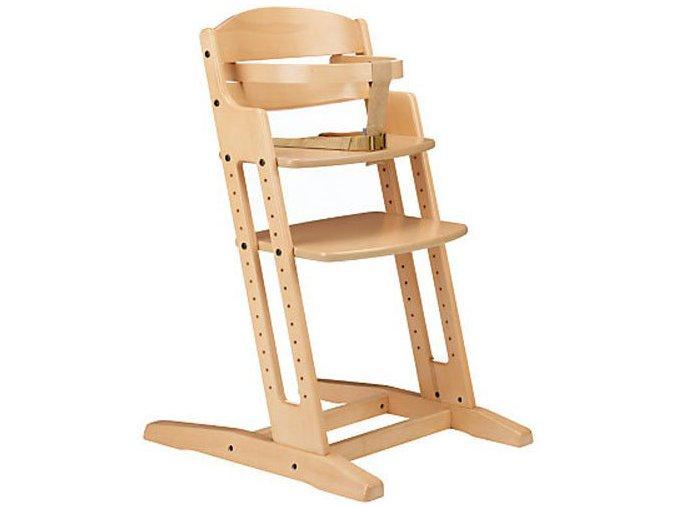 Drevená jedálenská stolička Babydan Danchair Natur