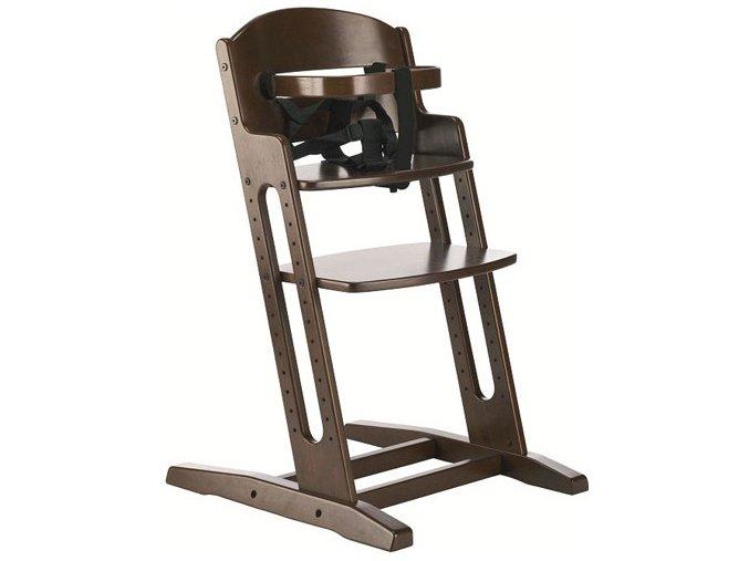 Drevená jedálenská stolička Babydan Danchair Walnut