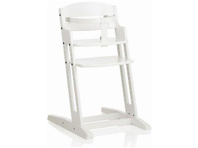 Drevená jedálenská stolička Babydan Danchair White