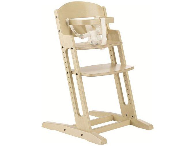Drevená jedálenská stolička Babydan Danchair White Wash