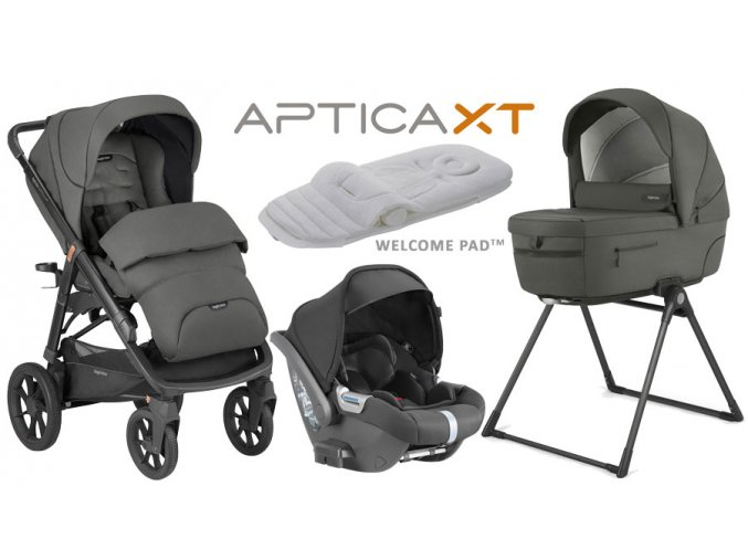 Kočík Inglesina APTICA 4v1 SET XT Charcoal Grey