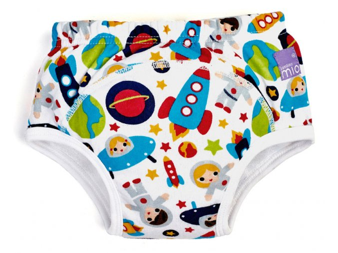 Bambinomio Učiace plienkové nohavičky 18-24 mesiacov Outer Space