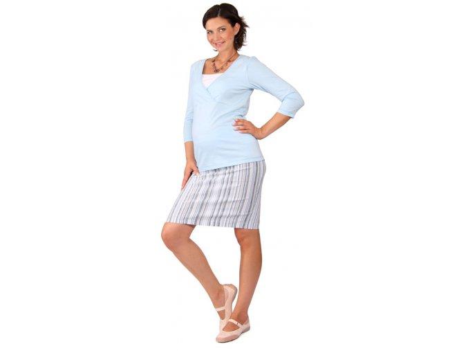 Těhotenská sukně RIALTO BEVER modré pruhy 0260 (Dámská velikost 42)