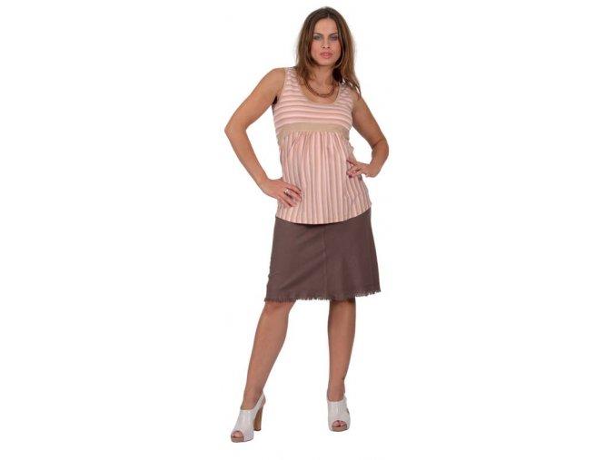 Těhotenská sukně RIALTO SANEM sv. hnědá 01246 (Dámská velikost 46)