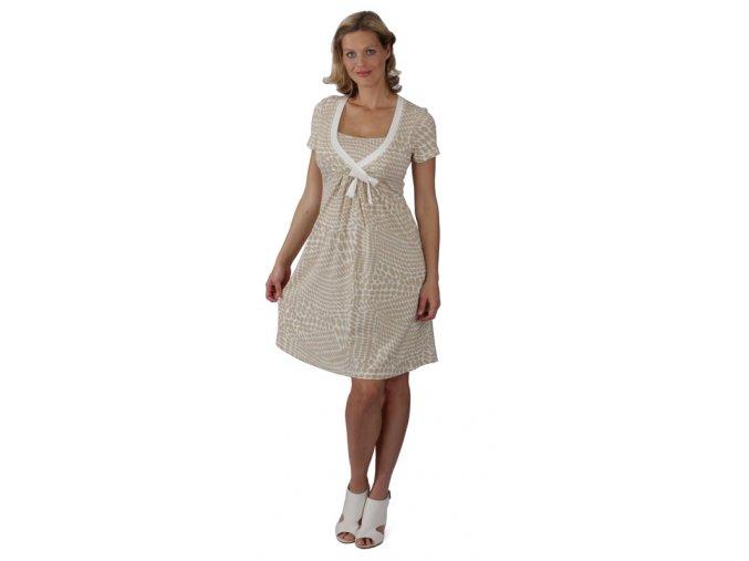 Tehotenské šaty na dojčenie Rialto Loison – Béžové Kolieska 7870