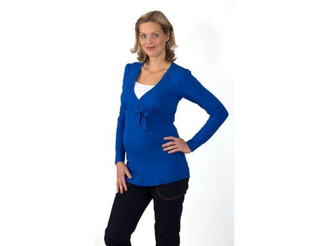Těhotenské a kojící tričko RIALTO DAUN modré 0442 (Dámská velikost 46)