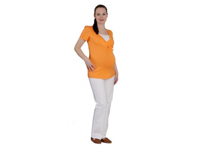 Těhotenské a kojící tričko RIALTO DUNA oranžová 0457 (Dámská velikost 46)