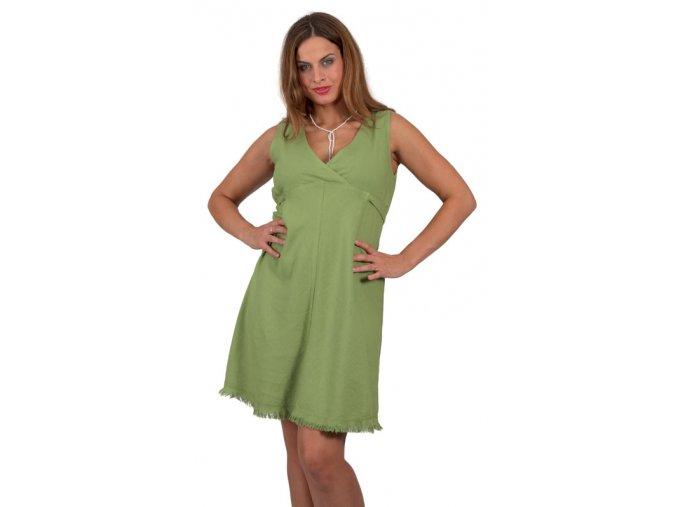 Těhotenské šaty RIALTO LILLE zelená 01244 (Dámská velikost 40)