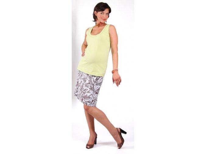 Těhotenské tílko RIALTO ECLY zelené 0253 (Dámská velikost 46)