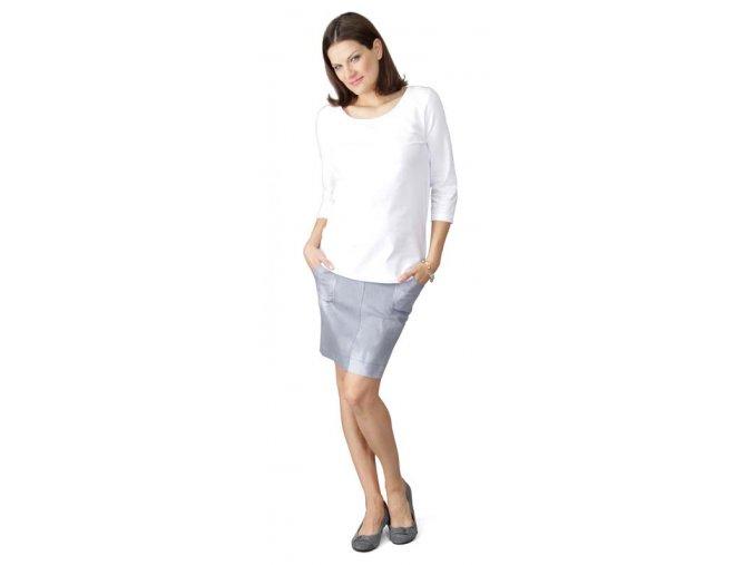 Těhotenské tričko RIALTO CLERE bílé 0098 (Dámská velikost 44)