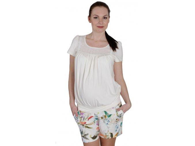 Těhotenské tričko RIALTO COLLET 0440 (Dámská velikost 46)