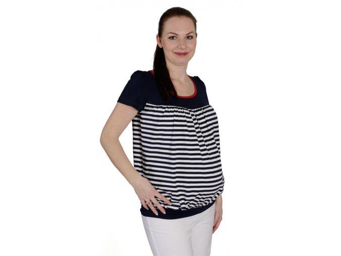 Těhotenské tričko RIALTO COLLET 0468 (Dámská velikost 46)
