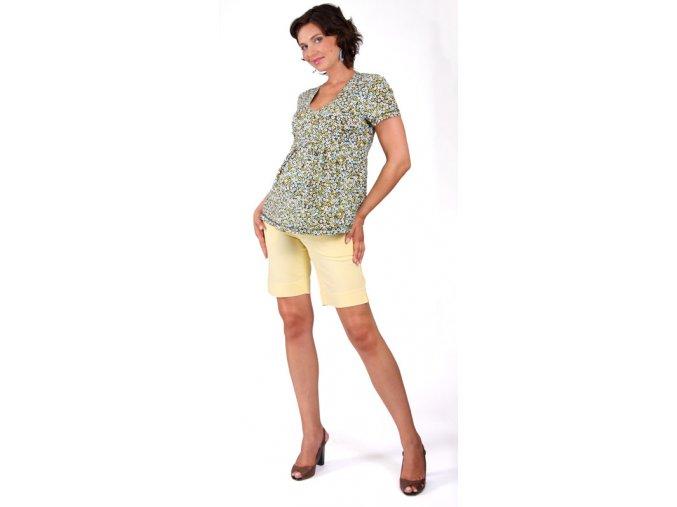 Těhotenské tričko RIALTO CORBION tyrkysový puntík 0258 (Dámská velikost 46)