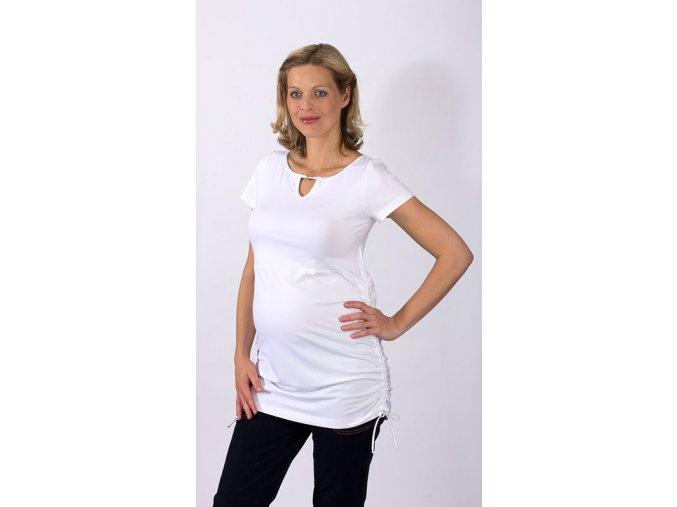 Těhotenské tričko RIALTO CRULE bílé 0312 (Dámská velikost 46)