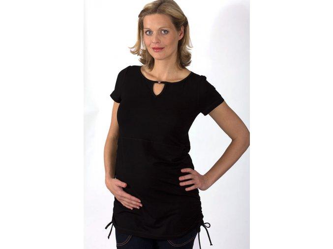 Těhotenské tričko RIALTO CRULE černé 0156 (Dámská velikost 46)