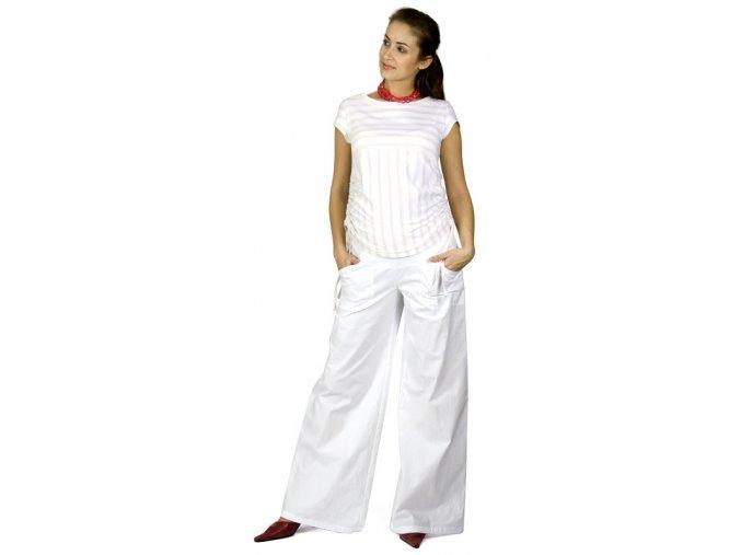 Těhotenské tričko RIALTO NONZA bílá se zlatým pruhem 0053 (Dámská velikost 44)